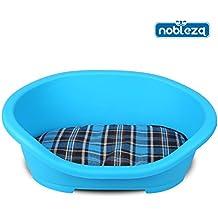 Nobleza Cama para Perros, Estructura Externa de plástico Azul con cojín ...