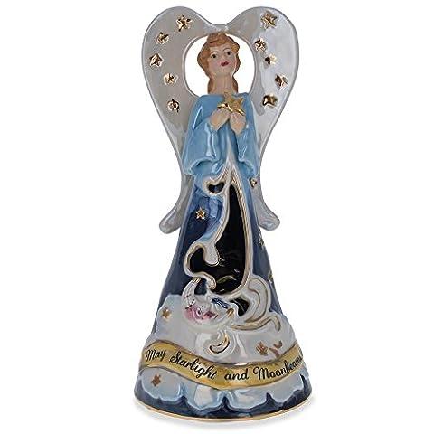 23,5cm Starlight Wishes drehbar Musical Porzellan Engel Figur (Porzellan Engel Figurine)