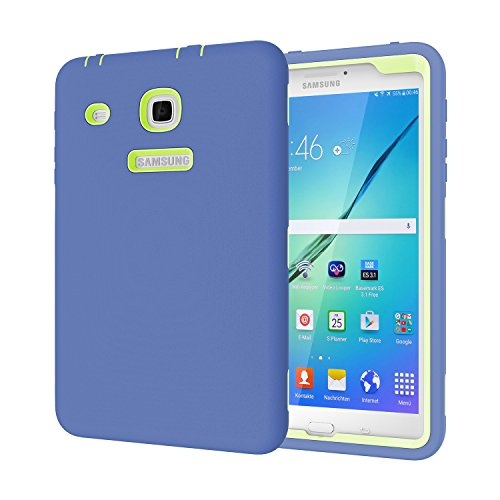 Galaxy Tab E 8.0Fall, beimu 3in 1Hybrid Armor Defender Schutz Cover für Samsung Galaxy Tab E 20,3cm sm-t377a/P/R/T/V Verizon/Sprint/US Cellular/at & T/T-Mobile 8Zoll Tablet, Navy+Grey
