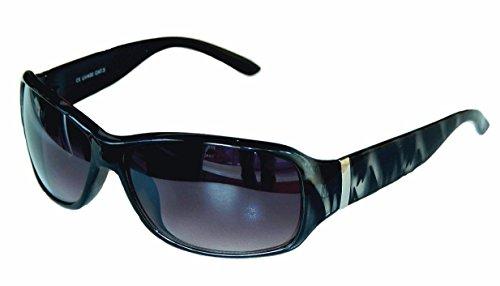 SONNENBRILLE Große Damenbrille Pornobrille sehr trendy Retro Style M 1,2 (2 Leopard schwarz grau)