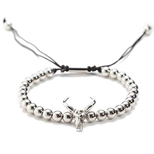 XKJFZ Weihnachten Kleines Rentier Zircon und Handgemachtes Armband Silber Weihnachten Dekoration Armband Zirkon & Kupfer überzogen Armband