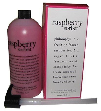 Raspberry Sorbet Shampoo, Shower Gel & Bubble Bath with Pump