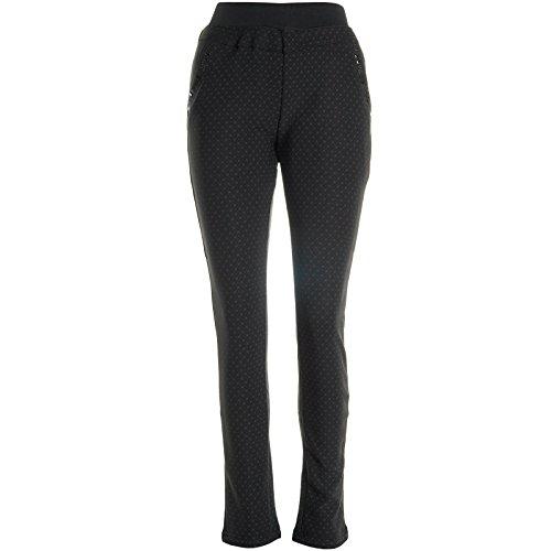Damen Stretch Stoff Loose Hose Leggings Treggings Übergröße Jeggings Röhre 20944, Hosengröße:52;Farbe:Schwarz