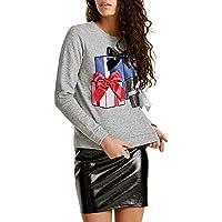 Geili Damen Weihnachten Geschenk Drucken Ribbon Sweatshirt Jumper Langarm O-Ausschnitt Pullover Tops Bluse Frauen... preisvergleich bei billige-tabletten.eu