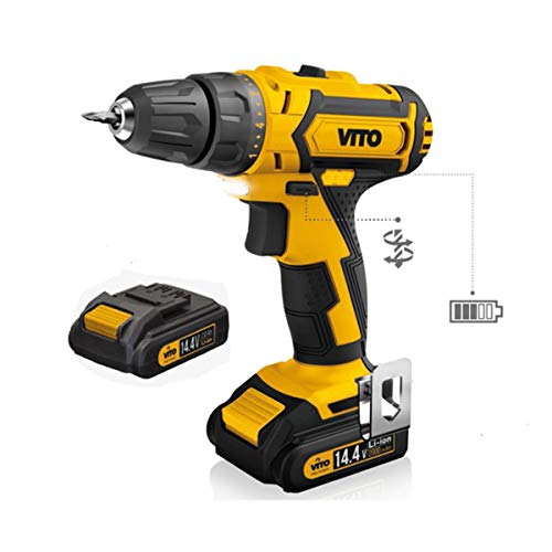 Akku-Bohrschrauber Vito 14,4V/2x2.0Ah + LED/Batterieanzeige