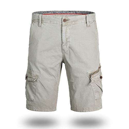 BASACA Pantalons Hommes Garçon Étudiant Printemps Été Shorts Et Bermudas Coton Occasionnel Poche Solide à L'extérieur Pantalon De Travail Cargo Court Mode 2019 (Kaki, 40)