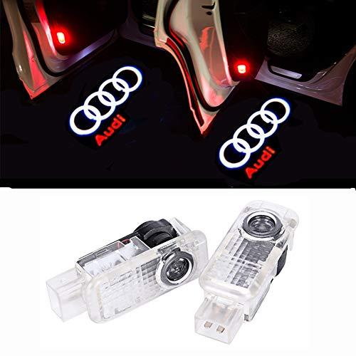 HUAYIN 4 Stück Autotür Led Logo Einstiegsbeleuchtung Projektion Licht Türbeleuchtung Projektor Welcome Licht