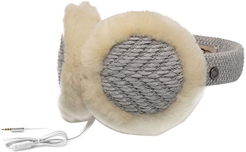 UGG Women's Textured Wired Knit Earmuff Sterling Heather One Size (Uggs Womens Knit)