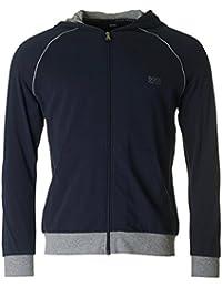 BOSS Sweat Top Jacket Hooded in Navy