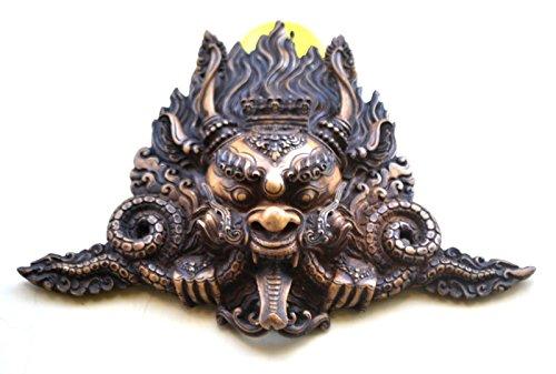 Máscara de dragón , Vintage Rare colgar en la pared Mask Shiva Mahakala , Home Art Deco India Wall Art