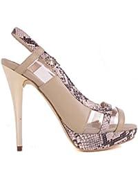 Versace Escarpins Femmes Hauts talons Sandales à brides Beige BS02