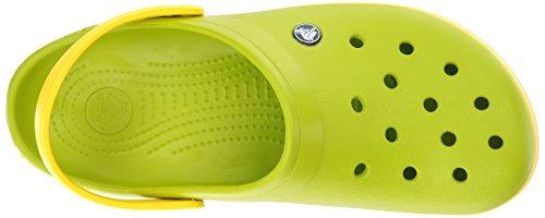 Crocs Crocband, Zoccoli Unisex-Adulto Verde (Volt Green/Lemon)