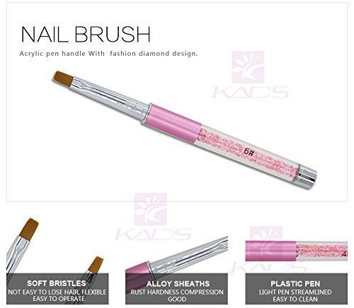 KADS1pc Nail Art Pennello DIY Nail Pen Chiodo Piatto Pittura Pennello per Gel UV Unghie Strumento