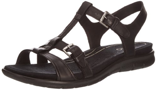 ECCO Babette Sandal Black Feather, Mocassini Donna Nero (Schwarz (BLACK 01001))