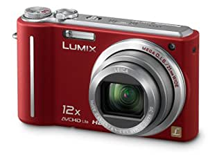 Panasonic Lumix TZ7 Digital Camera - Red (10.1MP, 12x Optical Zoom) 3.0 inch LCD