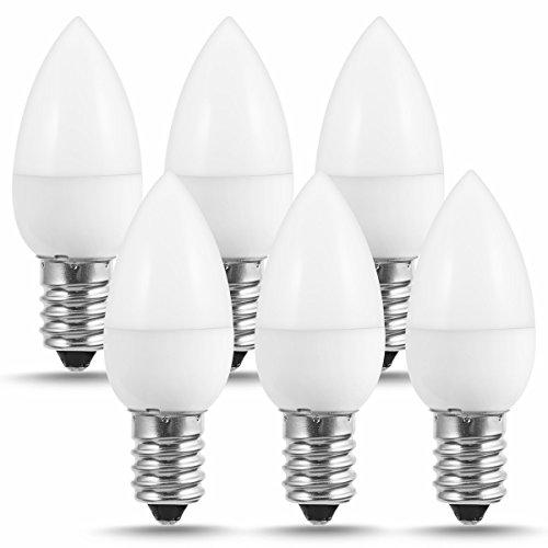 JandCase - Bombilla LED C7 de 1 W, luz nocturna LED (10 W equivalente a incandescente), luz blanca diurna LED E14 6000 K, 100 lm, para decoración del hogar, no regulable (6 unidades)