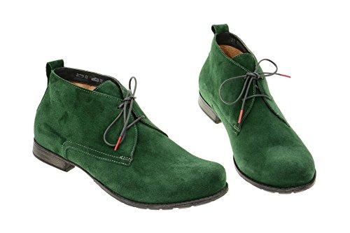 Think!  Think Denk Schuhe grün Velour - 780, Chaussons montants femme Vert - Vert