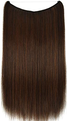 Topreety - extension per capelli halo, con filo elastico invisibile, 61 cm, 100 g