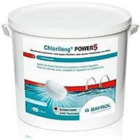 Bayrol - chlorilong Power 5 - Chlore Lent 5 Fonctions Galet 5kg