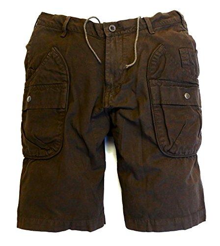 Schlitz-pocket-hose (Logan Outdoor Cargo Shorts in schwarz, braun und blau)