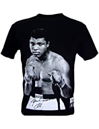 Immortal Homme Muhammad Ali Boxing Heavyweight Champion T-Shirt V2 Noir Taille L