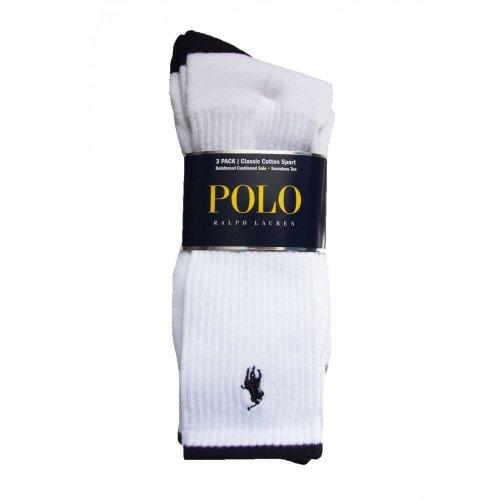 Ralph Lauren - Chaussettes de sport - Homme - Blanc - Blanc - Taille unique