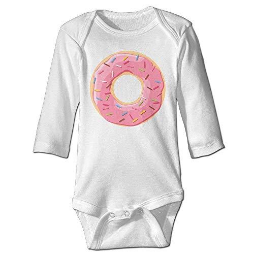 Neugeborenes Baby-Jungen-Mädchen-Bodysuit-Lange Hülse, Donuts Baby Long Sleeve Graphic Bodysuits Organic Jumpsuits ()