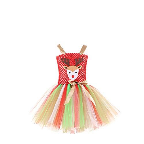 Mädchen Kinder Farbe Tüll Tutu Rock Halloween Karneval Party Prinzessin Kleid Schule Verkleidung Kostüm Abschlussball Ballkleid für Baby Mädchen Erstkommunion Fest Geburtstag Festlich - North Hollywood Kostüm