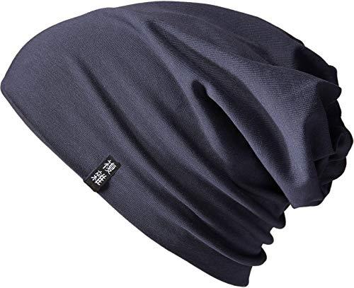 Enter the Complex® Leichte Jersey Mütze, Damen und Herren, Slouch Beanie aus Baumwolle, Elastisch, S/M, Anthrazit