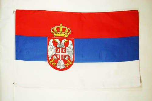 DRAPEAU SERBIE 150x90cm - DRAPEAU SERBE 90 x 150 cm - DRAPEAUX - AZ FLAG