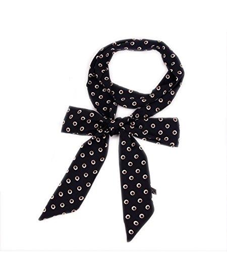 Damen Schmal Krawattenschal Skinny Satin Tie Scarf 200cm*4,5cm (Schal Skinny Silk)