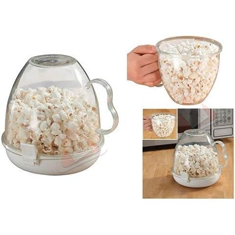 Fair - Nueva fácil limpia microondas perfectamente popcorn maker olla manejada bol home office