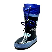 SendIt4Me Little Boys Navy Blue Tractor Drawstring top Wellington Wellies rain Boots New