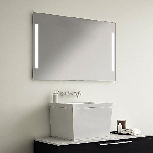 LED Badspiegel Badezimmerspiegel mit Beleuchtung EASY 100 cm Breit x 80 cm Hoch Licht links+rechts