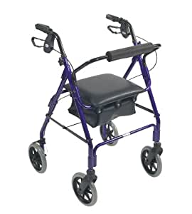 Days lightweight aluminum rollator mobile walker and rest for Mobility walker