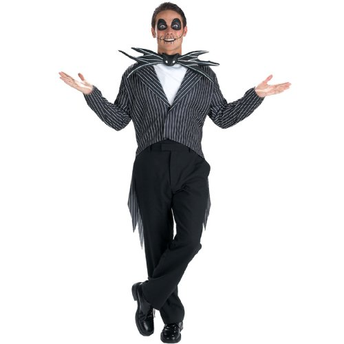 Disguise Men's Tim Burton's The Nightmare Before Christmas Jack Skellington Classic Costume, Black/White, ()