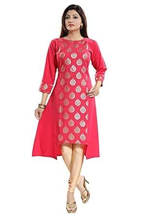 Women Indian Printed Ethnic Shirt Grey Kurti Tunic Kurta Shirt Dress SC2302