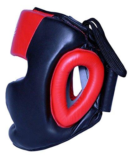 Boom Prime Rot Leder Boxen Kopfschutz Helm Kopfschutz MMA UFC Martial Arts Abbildung 2