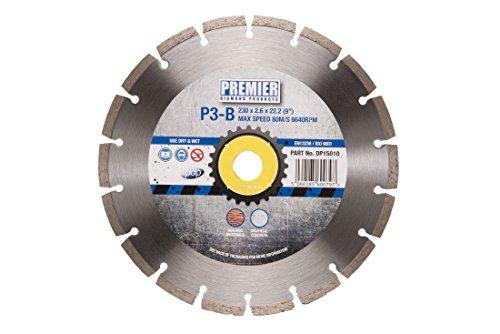Premier Diamond P3-B, Kreissägeblatt für Baumaterialien und Beton, Silber, silber, DP15010, 0V -