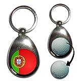 Portugal Flag - Golf Ball Marker Key Ring