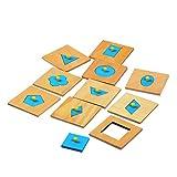 Baoblaze Montessori Spielzeug Holz Geometrische Figur Geform Holzpuzzles Motorikwürfel