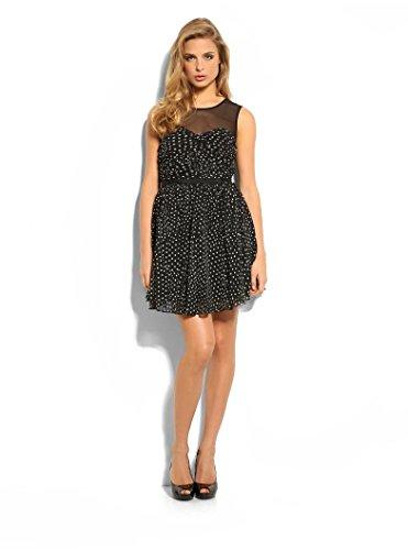Guess Damen Kleid Gr. X-Large, Weiß - Schwarz