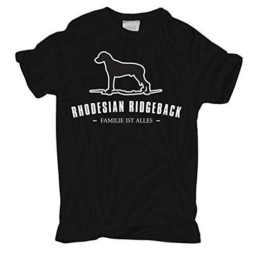 Männer und Herren T-Shirt Rhodesian Ridgeback - Familie ist alles Größe S - 8XL Schwarz