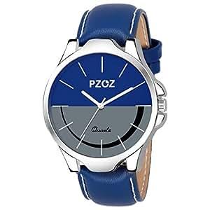 PZOZ Quartz Movement Analogue Black Dial Men's Watch