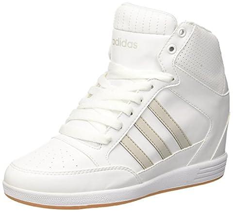 adidas Damen Super Wedge W Sneaker Low Hals, Elfenbein (Ftwbla/Ftwbla/Griper), 40 EU