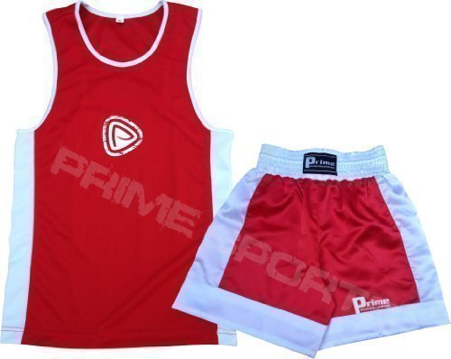 Boxuniform Kinder (11 - 12 Jahre), 2-teiliges Set (Oberteil und Shorts), Rot