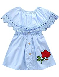 Internet_Kids Clothes Girls Dress For 1-5Years,❤️Internet Baby Girls Dress Short Sleeve