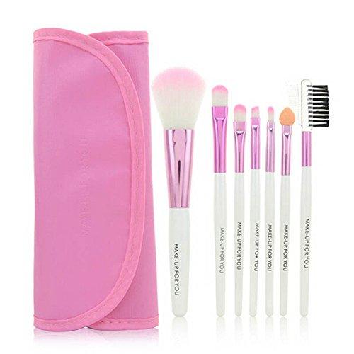 ALISIAM 1 Set / 7 PCS maquillage en bois pinceau ensemble maquillage outils cosmétiques brosses de beauté (G)