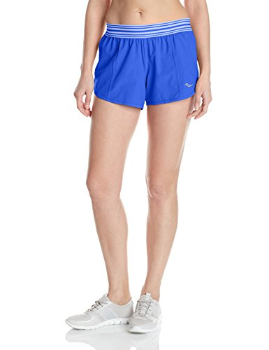 Saucony Damen PE Shorts Oberbekleidung, Blau, S