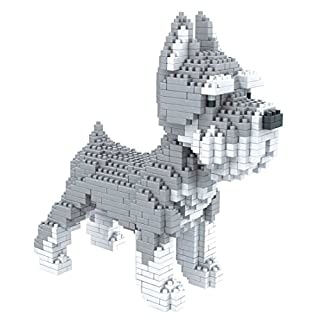 Atomic Building Dogs Various. Figures for Armar with nanobloques. Schnauzer